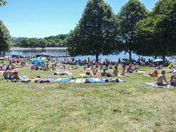 Strandbad in Losheim am See